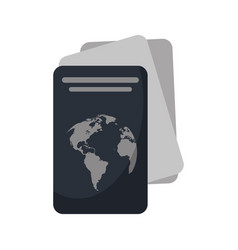 Passport document identification icon vector