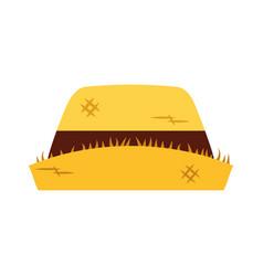 male farmer hat icon vector image
