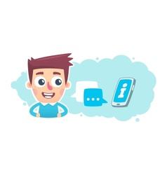 Voice commands smartphone vector