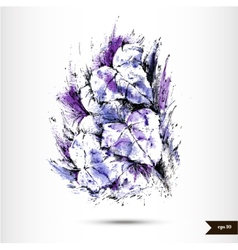 Abstract hand drawn watercolor background vector