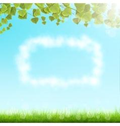Cloud Frame On Sky Background vector image