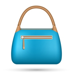 Blue woman bag isolated on white vector