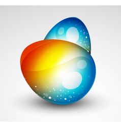 Abstract egg vector