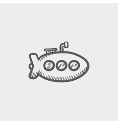 Submarine sketch icon vector