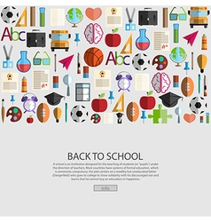 Back to school icon background vector