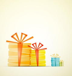 Transparent gift boxes on retro paper background vector