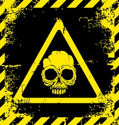 Skull yellow vector image