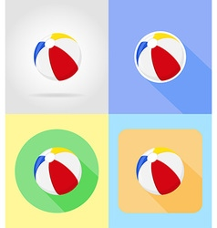 baby flat icons 14 vector image