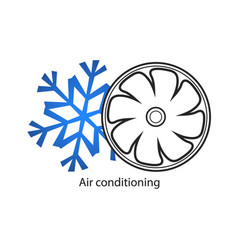 Air conditioner for business vector