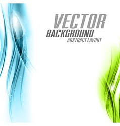 background blue green sided vector image vector image