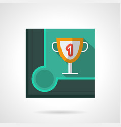 Billiard tournament award flat square icon vector