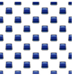 Blue square button pattern vector