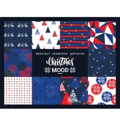 Christmas and new year set abstract geometric and vector