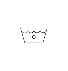cold washing laundry symbol line icon black on vector image