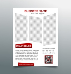 Creative minimalistic business flyer template vector image