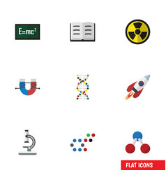 Flat icon science set of theory of relativity vector