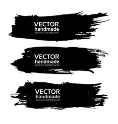 gig long black ink strokes isolated on a white vector image vector image