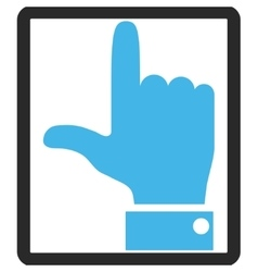Hand pointer up framed icon vector
