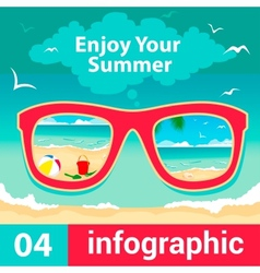 Infographic concept summer vector
