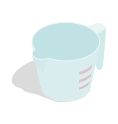 Measuring cup icon isometric 3d style vector