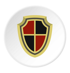 Medieval shield icon circle vector