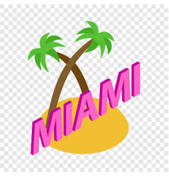 Miami isometric icon vector