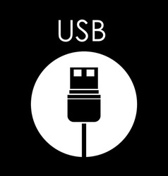 Plug and Usb design vector image vector image