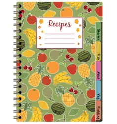 Recipe notebook vector