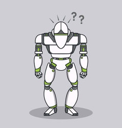 Stupid question robot vector