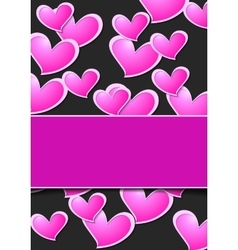 Valentine Day abstract background wit pink hearts vector image