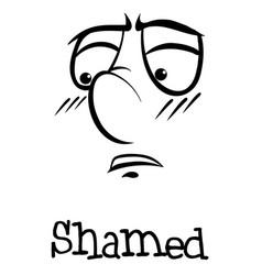 Word shamed vector