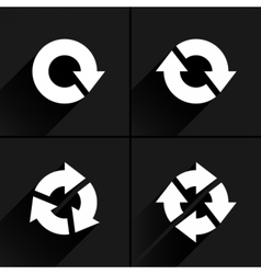 White arrow loop refresh reload rotation icon vector
