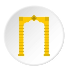 Eastern arch icon flat style vector