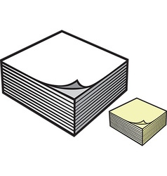 Pile of notepaper vector