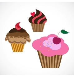 delicious cupcakes vector image