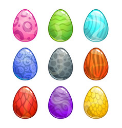 Colorful cartoon eggs set vector
