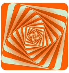 Abstract Spiral Background Orange vector image