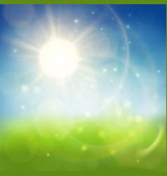 Summer shiny background vector