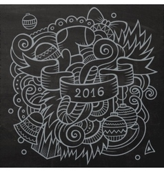 2016 new year doodles elements background vector