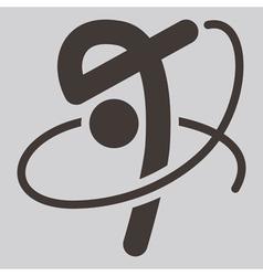 2275 Gymnastics Rhythmic icon vector image vector image