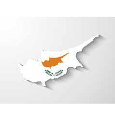Cyprus map with shadow effect vector