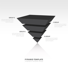 Pyramid upside down infographic template black vector