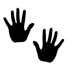 Hands print on white background vector