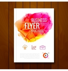 Colorful business background watercolor stain vector