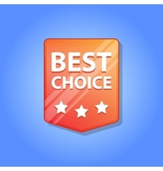 Best choice Label vector image