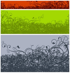 abstract calligraphic grunge color vector image