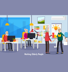 Aged elderly people orthogonal concept vector