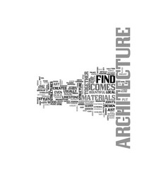 Architecture overview text word cloud concept vector