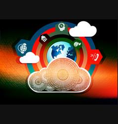 Background computer cloud vector