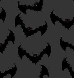 Bat seamless pattern Flying vampire background vector image vector image